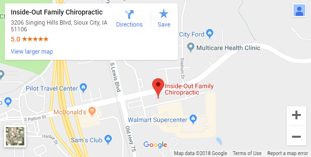 Sioux City IA Chiropractic Map